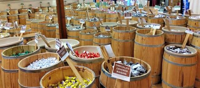 Barrels of candy at Tarpon Springs